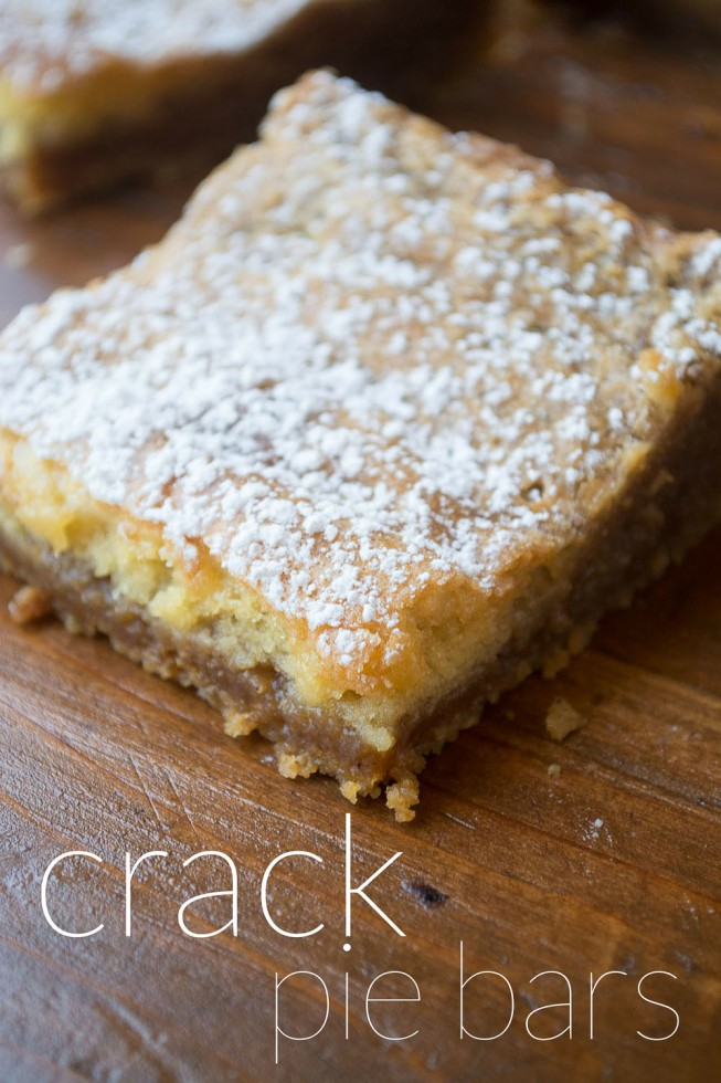 Crack Pie Bars, modeled after the famous Milk Bar Crack Pie, only soooo much easier!