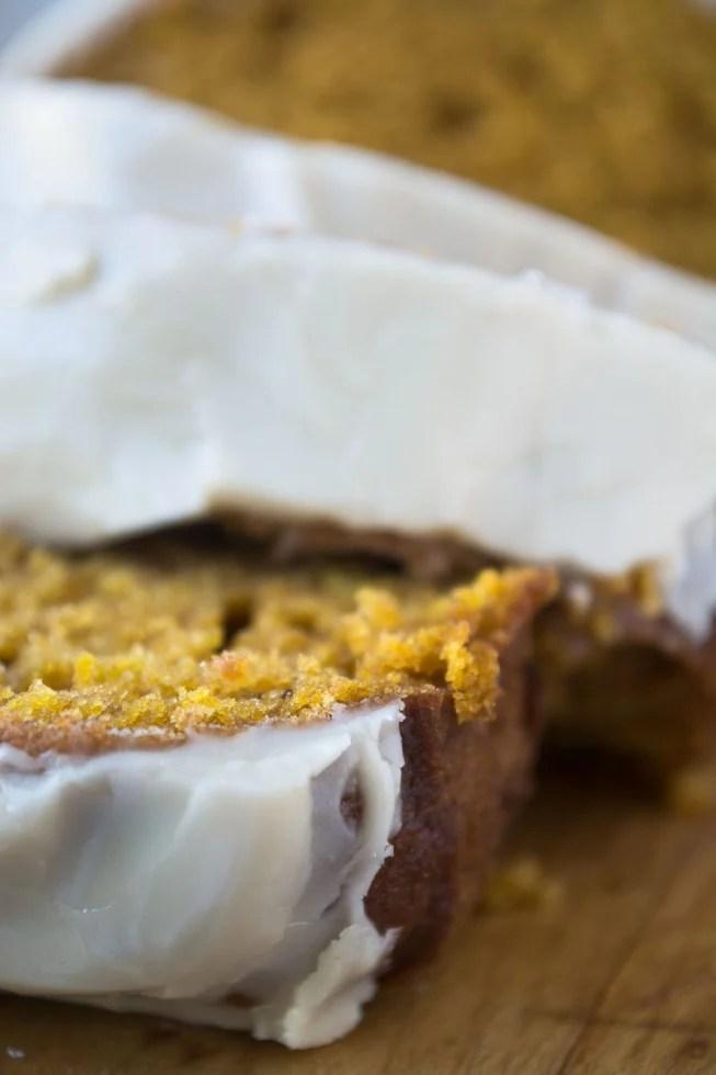 maple glazed pumpkin bread
