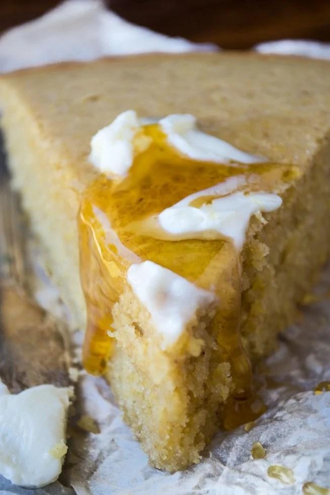 Dense, moist cornbread lightly spiced with warm fall flavors