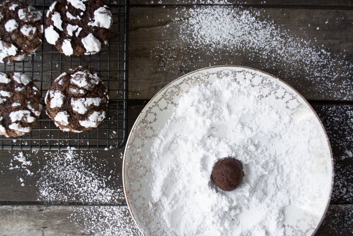 Classic Chocolate Crinkle holiday cookie recipe