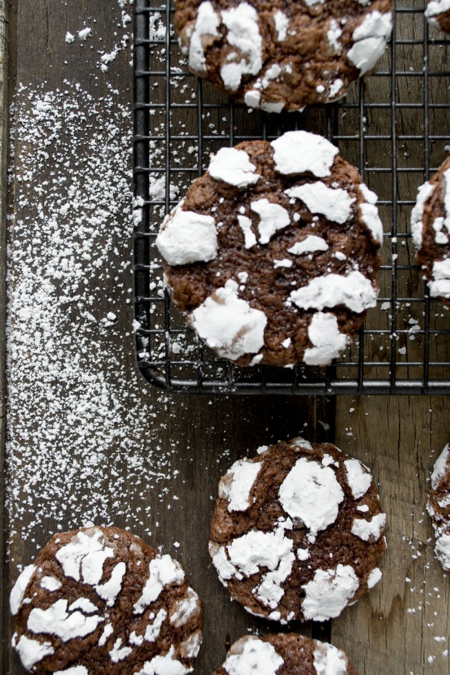 Chocolatey Crinkle Cookies taste like brownies!