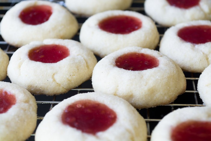 Simple Jam thumprint cookies should be in everyone's holiday cookie assortment