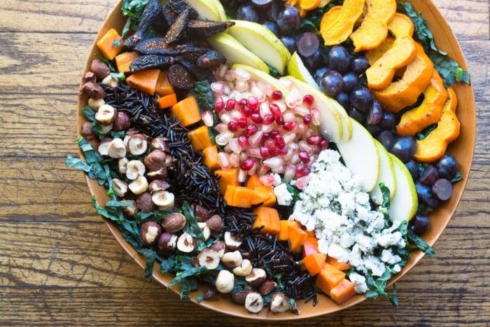 Harvest Salad with Pomegranate Allspice Dressing