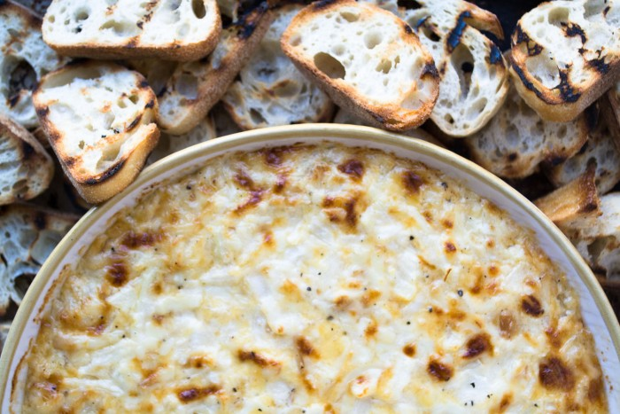 Smokey Onion Dip with grilled bread