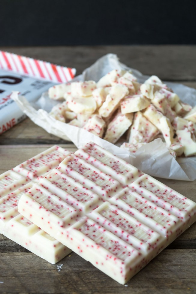 Peppermint chocolate for melting