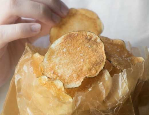 Skinny Microwave Potato Chips