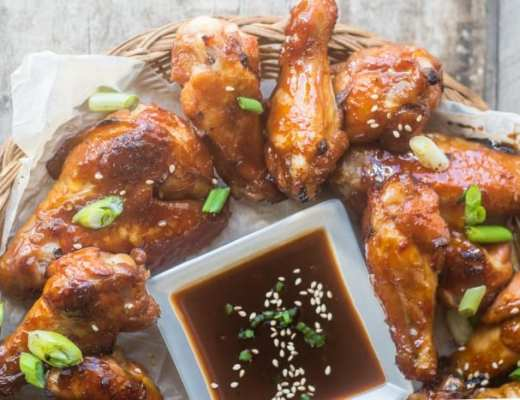 Mahogany Chicken Wings, a fabulous appetizer for the Lunar New Year!