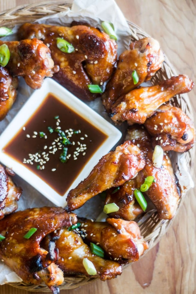 Mahogany Chicken Wings are richly glazed and super tender --- these are everybody's favorite!