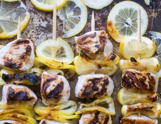 Lemon Buttermilk Chicken Skewers