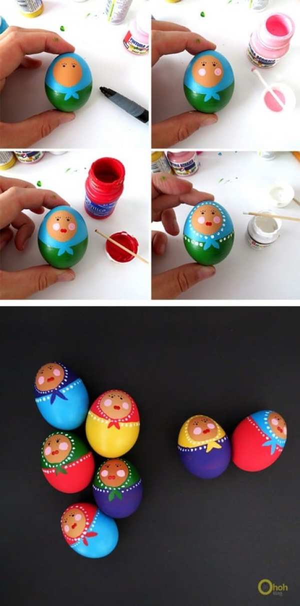 BABOUCHKA EASTER EGGS by OHOH Blog