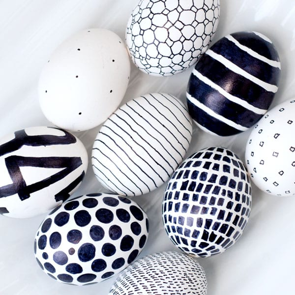 BLACK & WHITE EASTER EGGS by Obviously Sweet