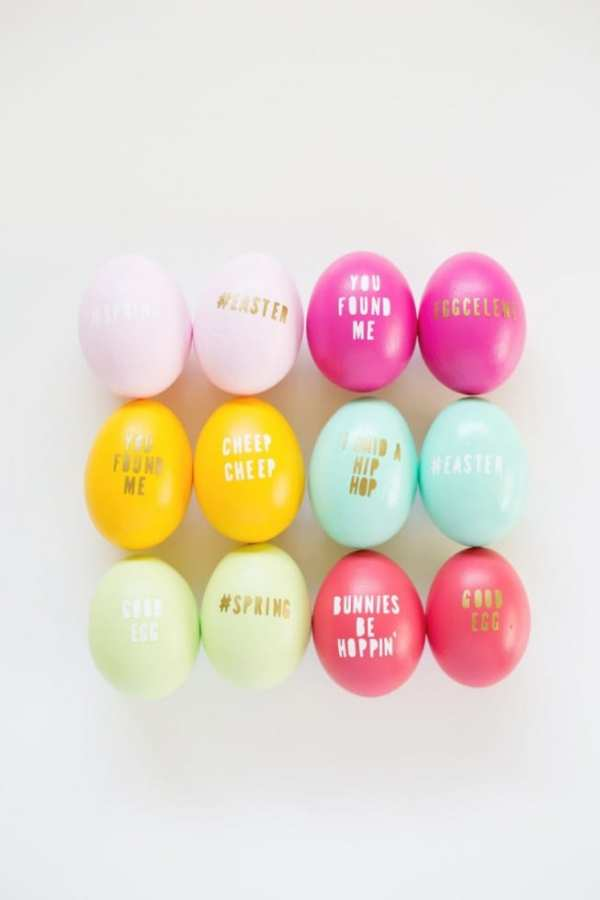 DIY TYPOGRAPHY EASTER EGGS by Lovely Indeed