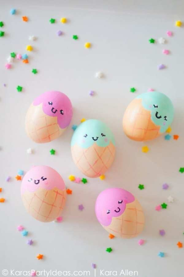 ICE CREAM CONE EASTER EGGS by Kara's Party Ideas