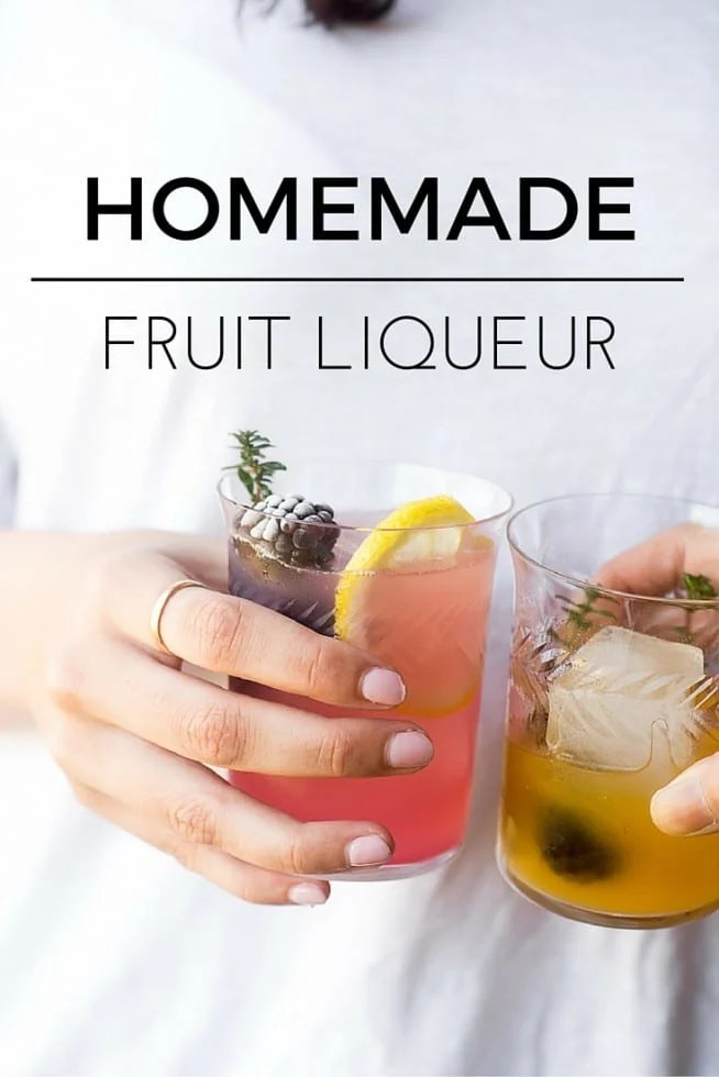 How to Make Homemade Fruit Liqueur --- I've come up with a quick and easy technique that results in the most intense fresh fruity flavor, and it's ready to drink in 24 hours --- cheers! #cocktails #fruitcocktails #vodka #infusions #bartending #beverage #weddingcocktails #diyliqueur #fruitliqueur #rhubarb #strawberries #pluots #apricots #whitepeaches #summerdrink #summercocktail #springcocktail
