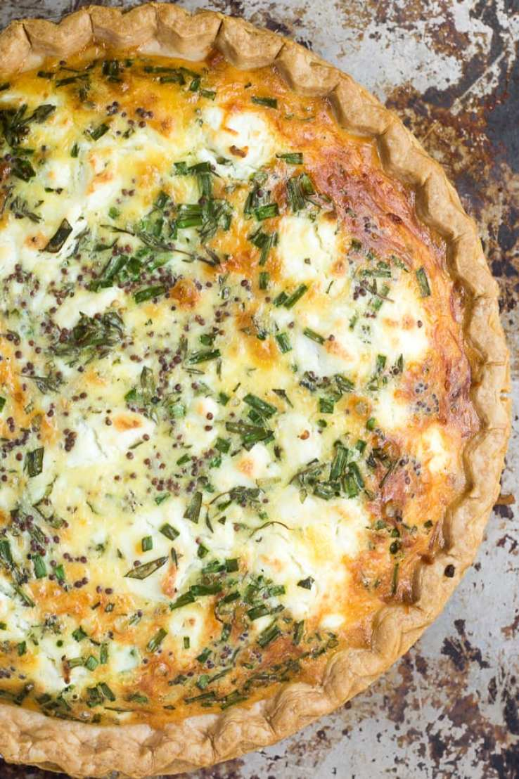 Sweet Onion and Herb Quiche | theviewfromgreatisland.com