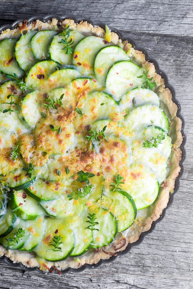 Zucchini Pie is good old fashioned Southern cooking at its best --- garden fresh zucchini baked up in a shortbread crust and topped with a bubbling crust of cheese and Ritz cracker crumbs ~ theviewfromgreatisland.com