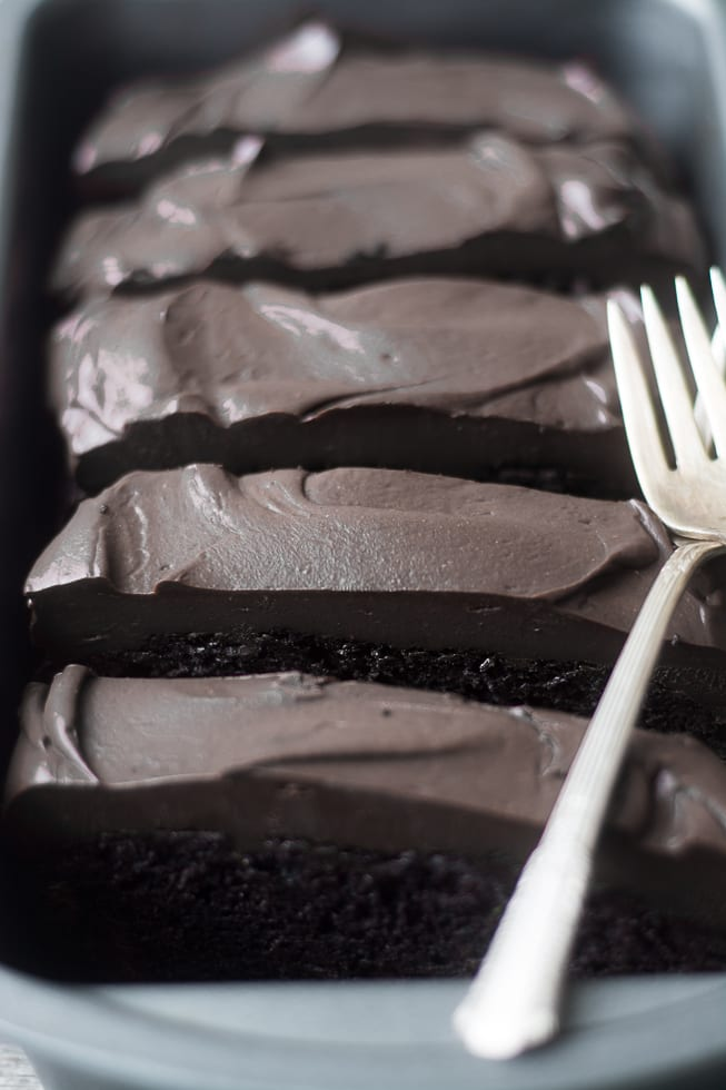 Death By Chocolate Zucchini Cake --- a decadently rich chocolate zucchini cake topped with a thick layer of bittersweet ganache --- what a way to go! ~ theviewfromgreatisland.com