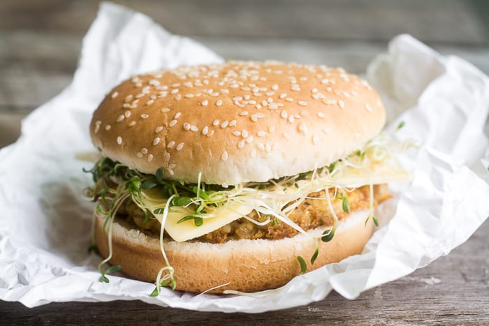 Garbanzo Veggie Burger ~ possibly the best veggie burger in the world! ~ theviewfromgreatisland.com