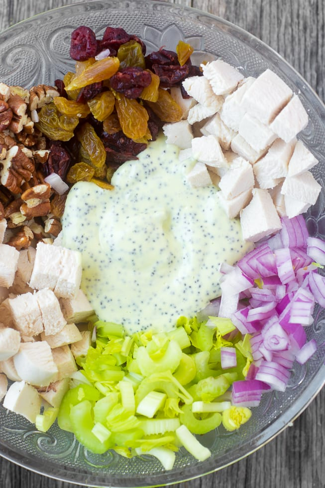 Ingredients for Chicken Salad with Poppy Seed Mayonnaise ~ theviewfromgreatisland.com