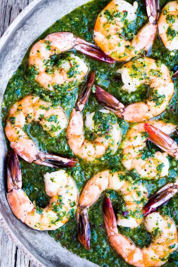 5 Easy Shrimp Recipes ~ Chimichurri Shrimp