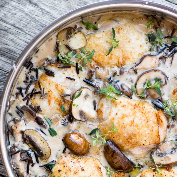 Creamy Chicken With Wild Rice And Mushrooms