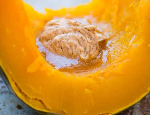 Whole Roasted Kabocha Squash with Chipotle Butter ~ theviewfromgreatisland.com