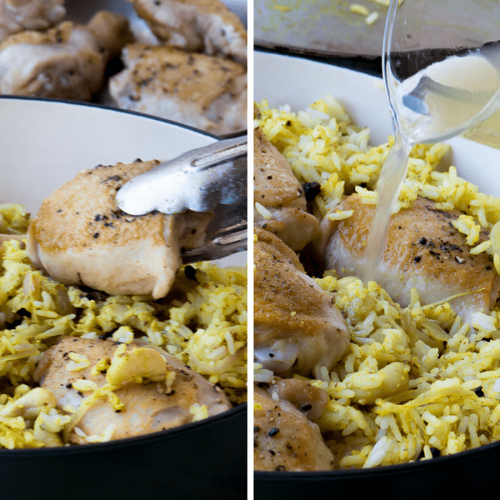 Making Lemon Chicken Biryani, a comforting one pot meal ~ theviewfromgreatisland.com