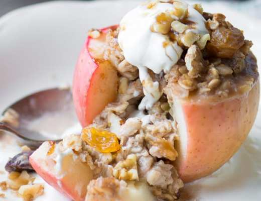Baked Breakfast Apples ~ theviewfromgreatisland.com