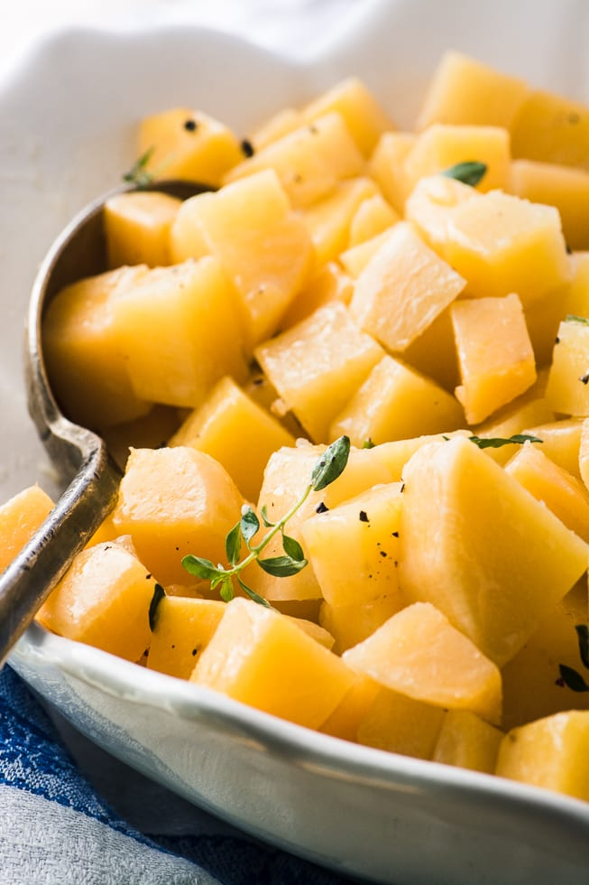 buttered rutabaga is a simple, rustic side dish full of flavor and nutrition ~ theviewfromgreatisland.com