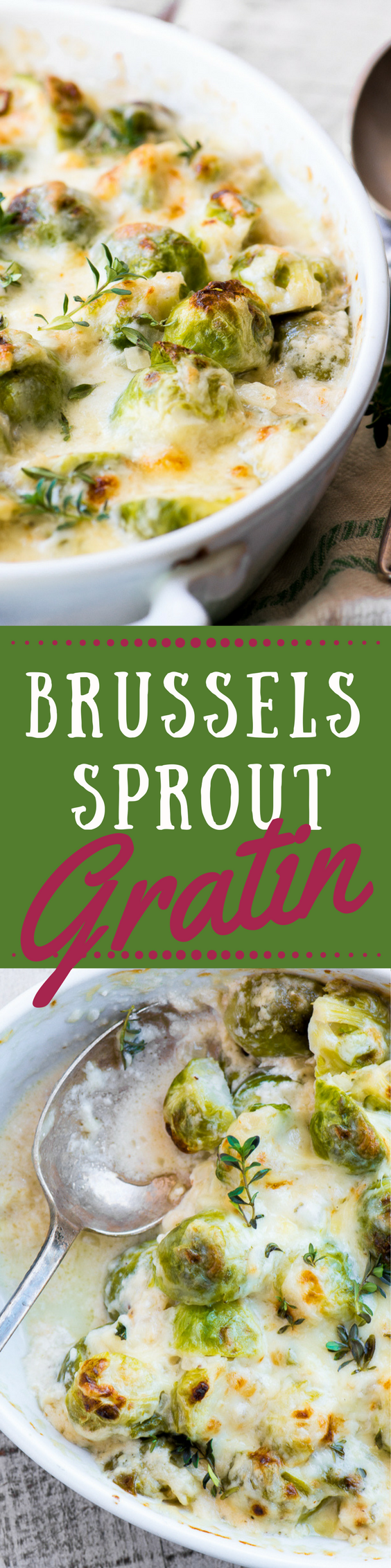 Cheesy Creamed Brussels Sprout Gratin ~ a luxurious side dish perfect for Thanksgiving and Christmas! ~ theviewfromgreatisland.com #brusselssprouts #bestbrusselssproutrecipe #holidaysidedish #gratin #vegetable #fallsidedish #bestbrusselssprouts #thanksgiving #Christmas #recipe