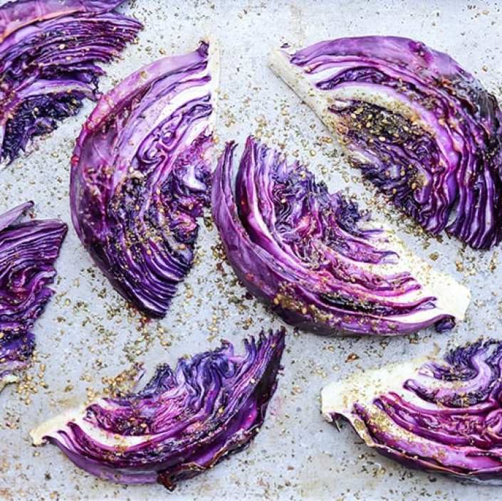 Roasted Red Cabbage Wedges from Floating Kitchen