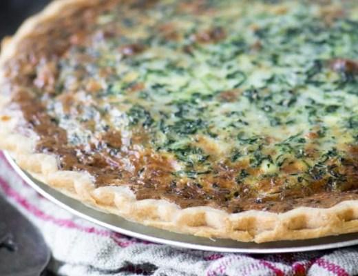 Spinach Artichoke Quiche ~ theviewfromgreatisland.com
