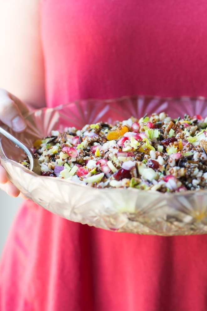 Vegan Ancient Grain Salad ~ theviewfromogreatisland.com