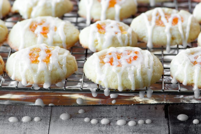 Marmalade Thumbprint Cookies ~ tender shortbread cookies filled with tangy marmalade ~ theviewfromgreatisland.com