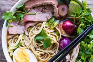 Slow Cooker Weeknight Pho is a quick and easy version of a fabulous Vietnamese noodle bowl!