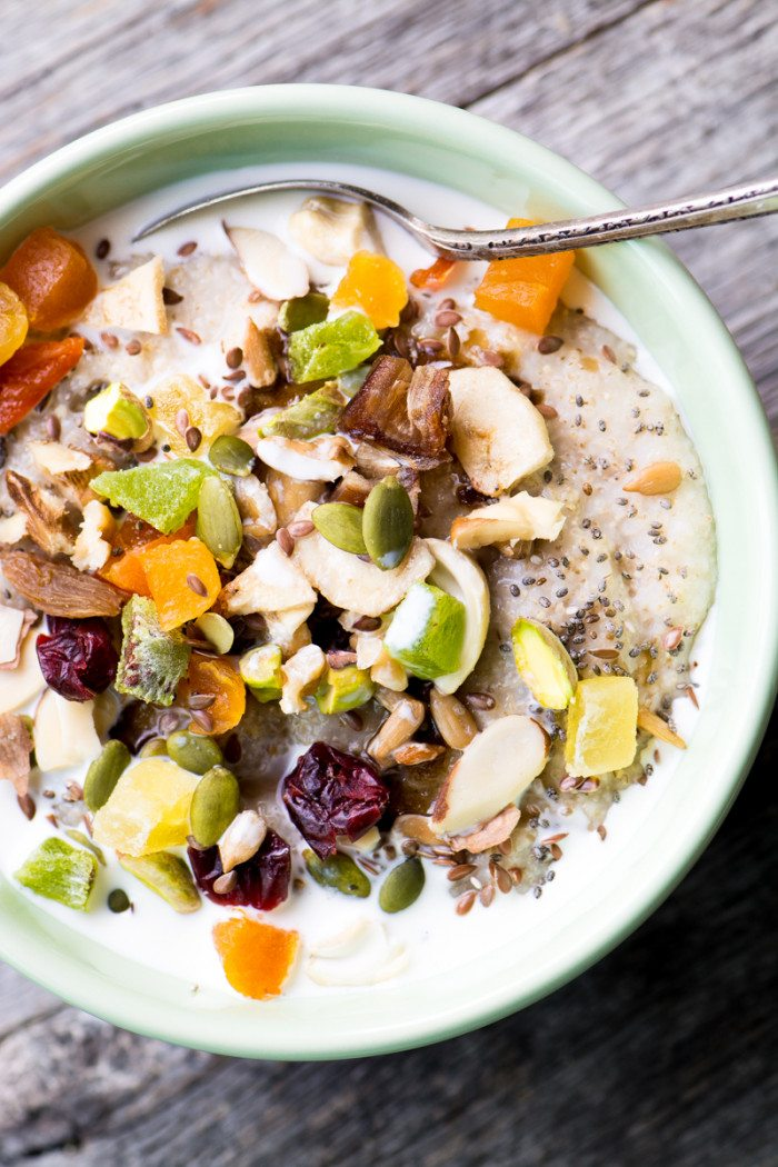 oat bran power bowl with spoon