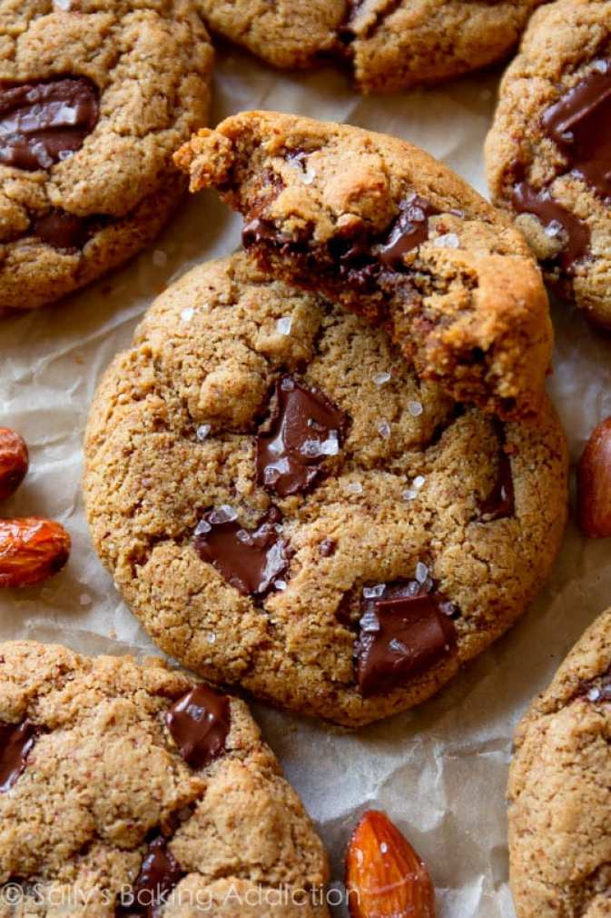 Maple Almond Butter Chocolate Chunk Cookies ~ 25 MORE Fabulous Flourless Cookies