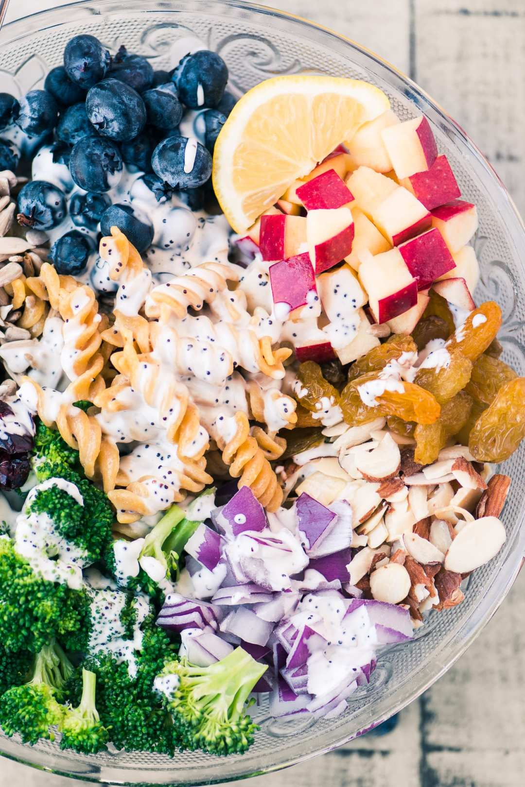 Broccoli and Blueberry Pasta Salad with Lemon Buttermilk Dressing is a fresh, healthy, and gluten free pasta salad just bursting with flavor and crunchy texture!