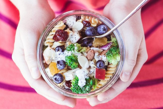 Broccoli and Blueberry Pasta Salad