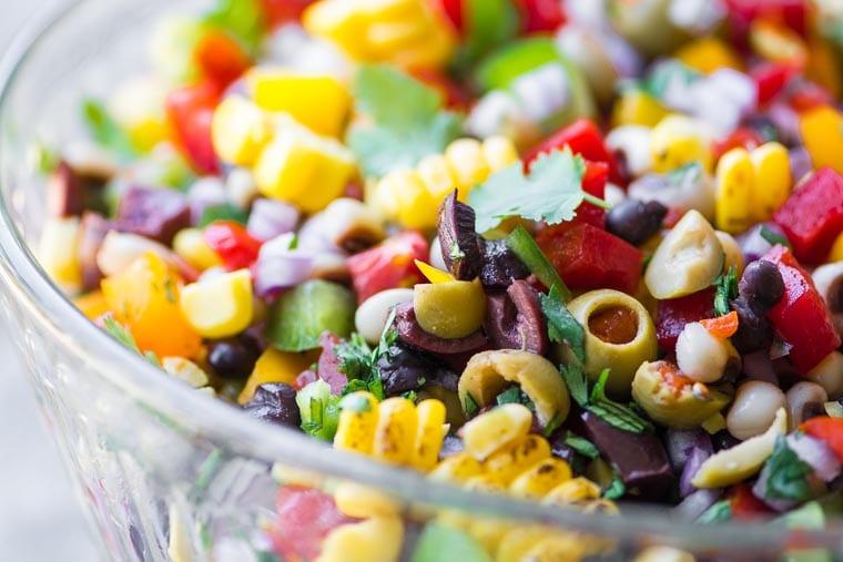 A bowl of colorful Cowboy Caviar