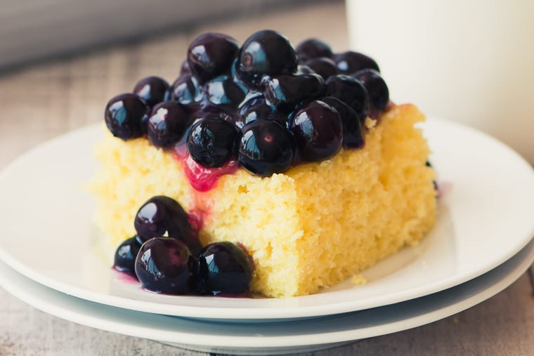 Blueberry Lemon Shortcake is a fun twist on the classic strawberry dessert!
