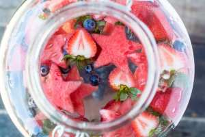 Patriotic Star Spangled Fruit Infused Water