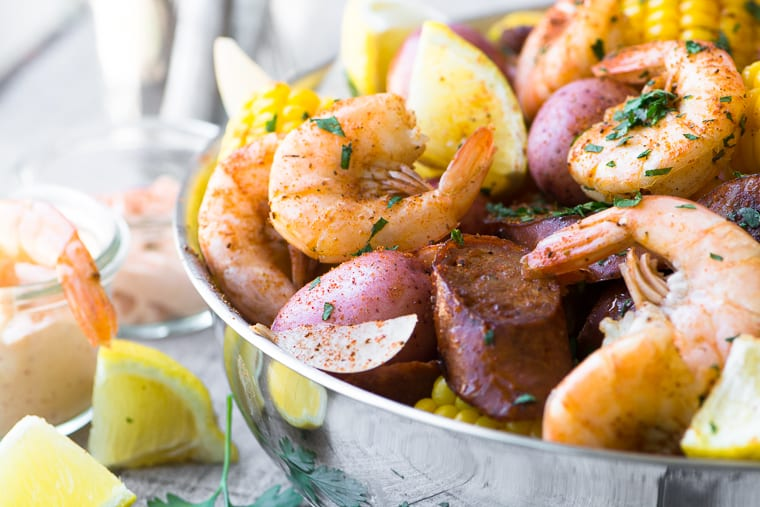 Classic Low Country Shrimp Boil recipe, the ultimate one pot meal!