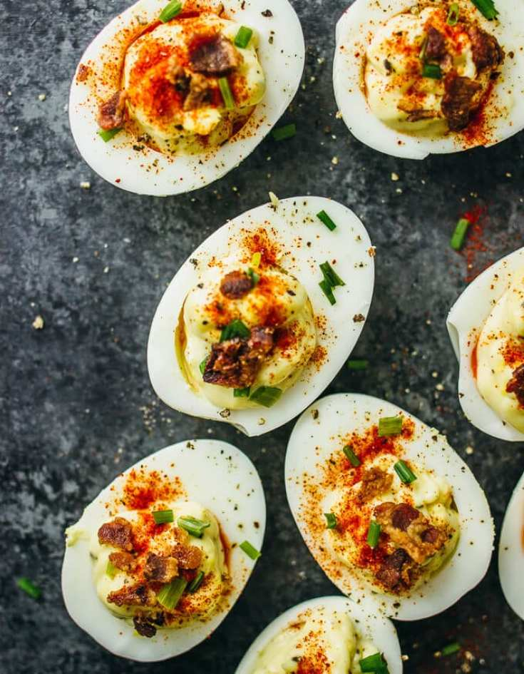 Best Spicy Deviled Eggs ~ 25 Devilicious Deviled Eggs ~ Savory Tooth