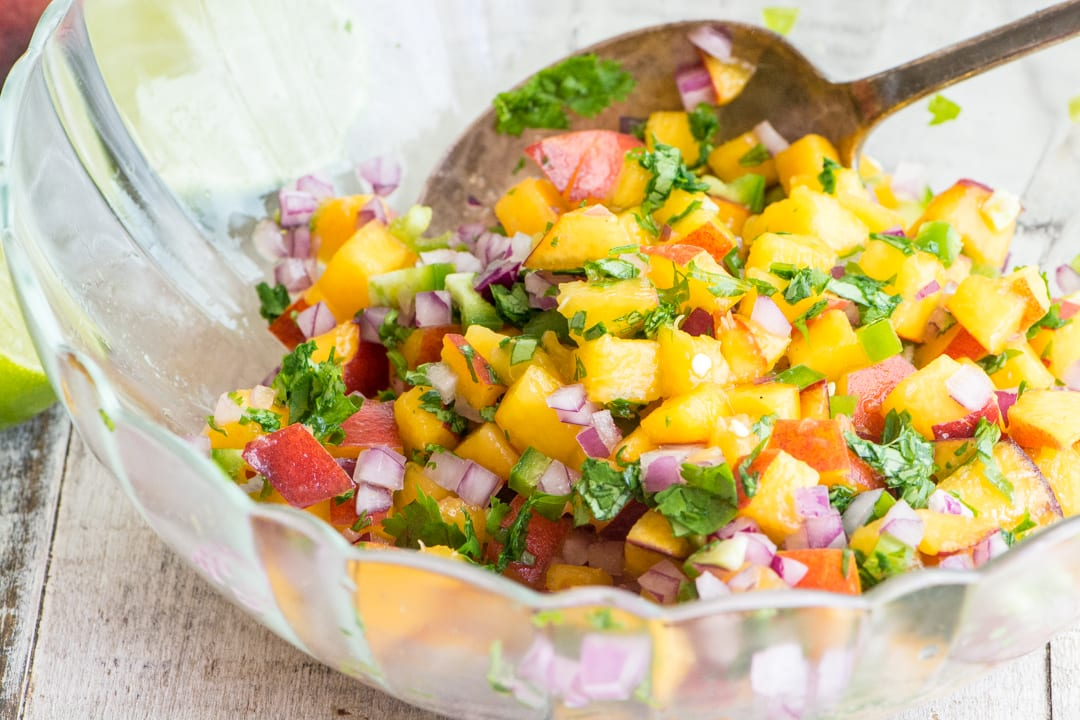 Grilled Chicken with Jalapeño Salsa ~ Peach Jalapeño Salsa goes wonderfully on grilled chicken, fish, steak, or tacos!