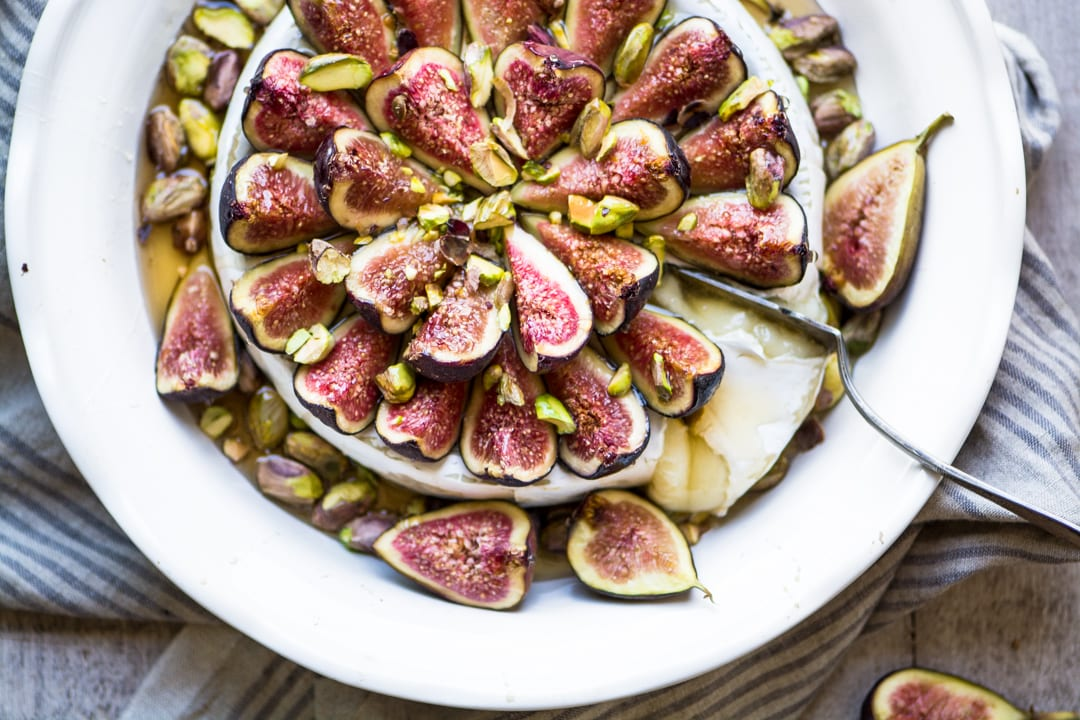 Easy Bake Brie with Figs and Honey