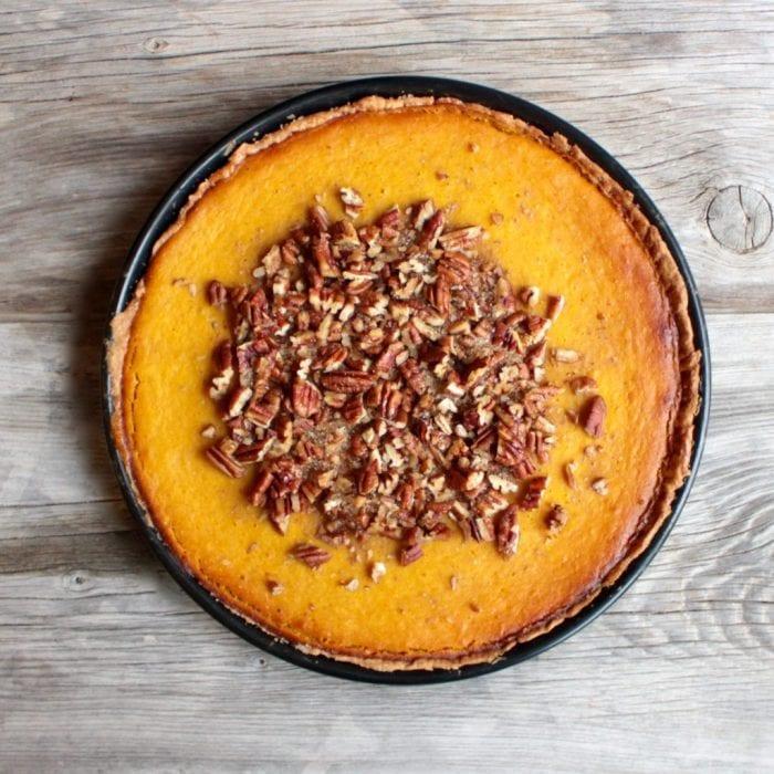 Pumpkin Pie with Pecans