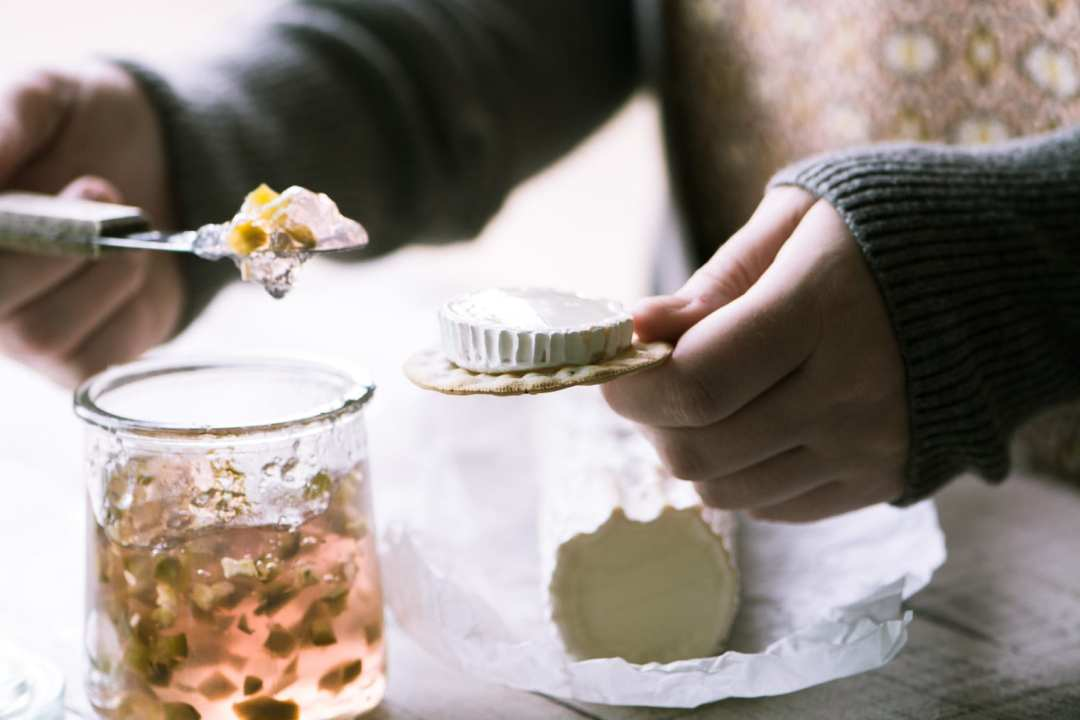 A gorgeous peachy pink Homemade Rosé Wine Hot Pepper Jelly!