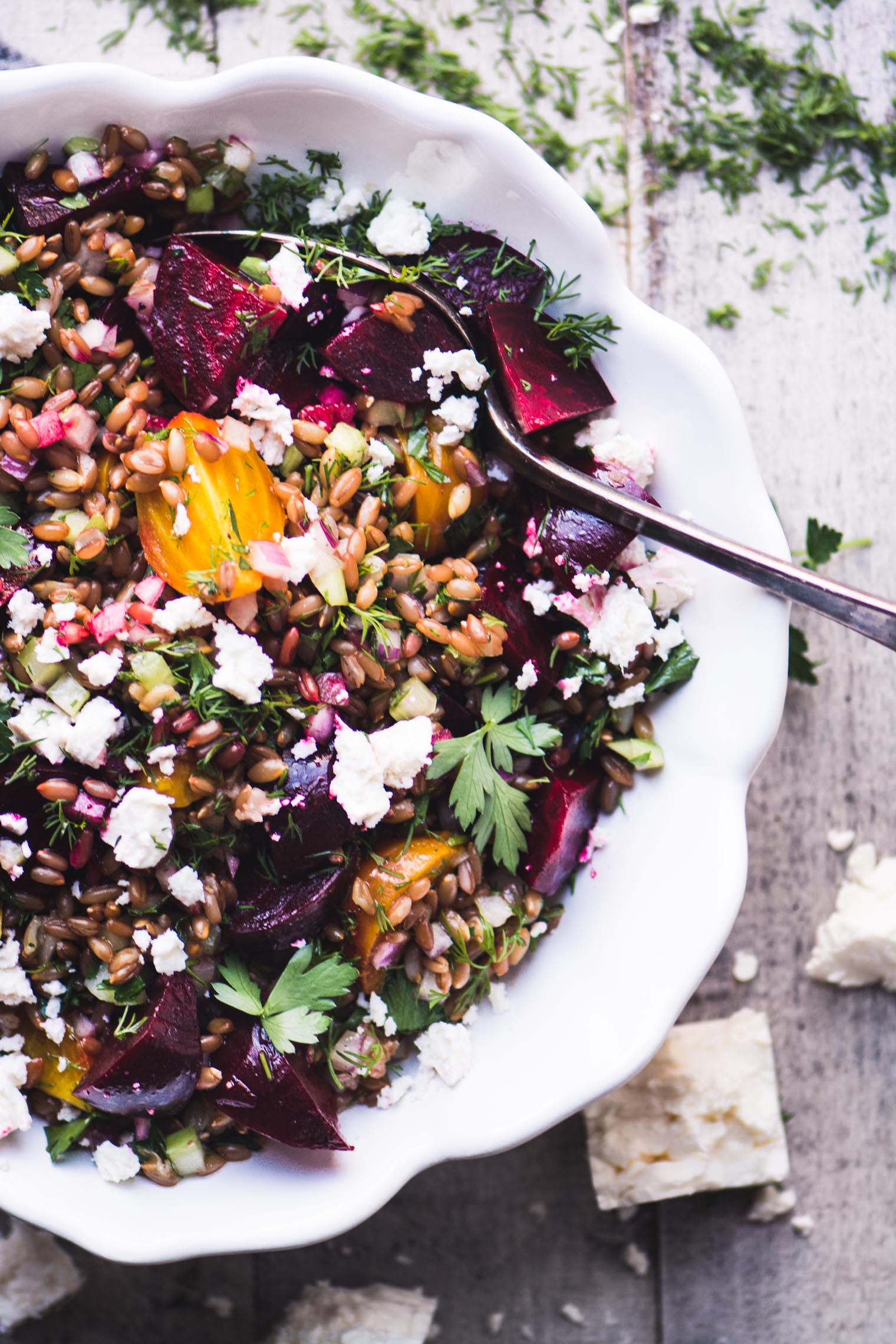 Wheat Berry Salad with Beets and Feta