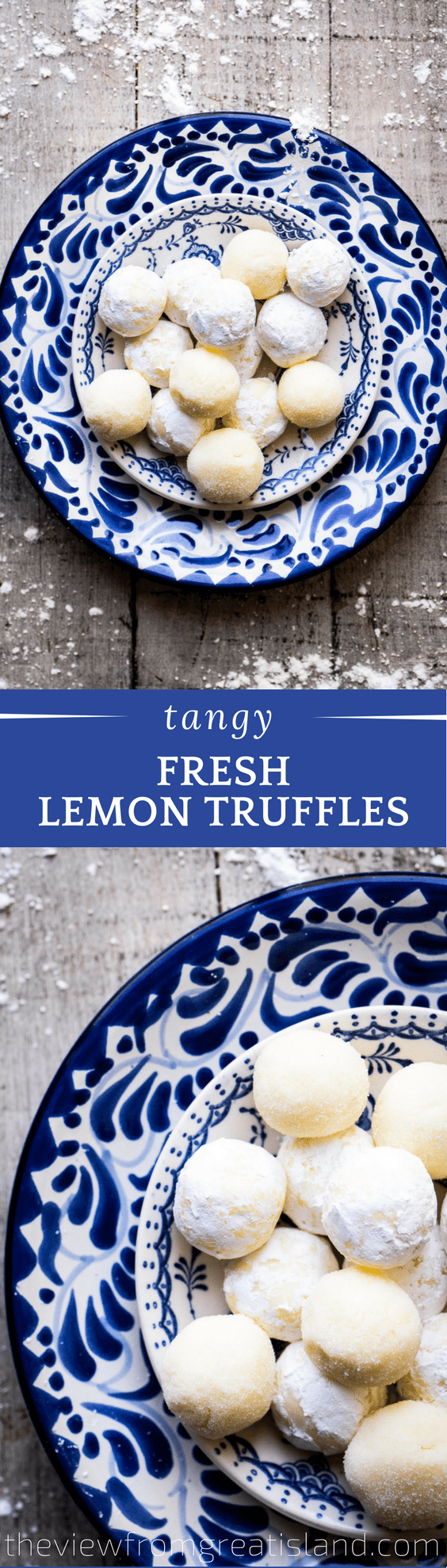 These Fresh Lemon Truffles are creamy confections with a bold citrus flavor.  Rolled in sugar or dipped in dark chocolate ~ #CANDY #TRUFFLES #LEMON #WHITECHOCOLATE #HOLIDAYCANDY #DESSERT #CITRUS #LEMONCANDY #GANACHE #WHITECHOCOLATEGANACHE #LEMONDESSERT #CHRISTMAS #CHRISTMASCANDY #GLUTENFREEDESSERT